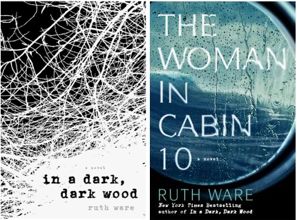 Book Covers In a Dark, Dark Wood and The Woman in Cabin 10