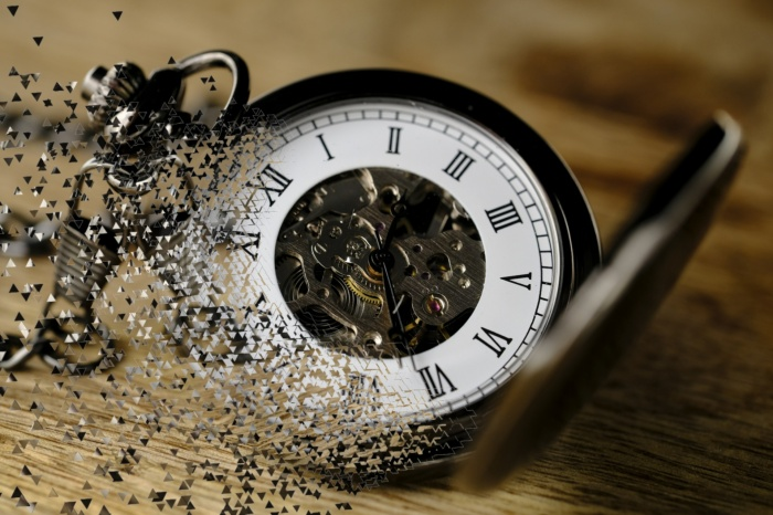 Clock breaking apart